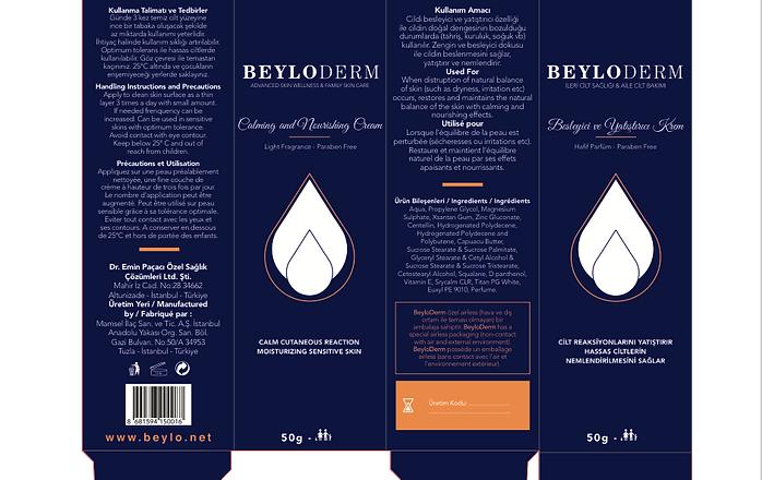 Packaging de la crème beyloderm
