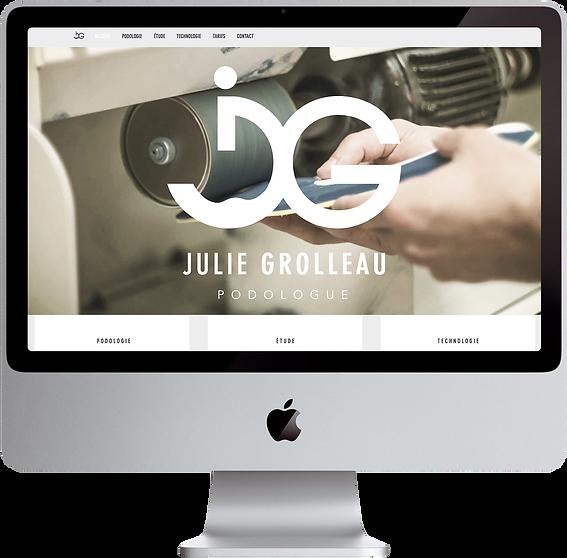 Page d'accueil Julie Grolleau podologue