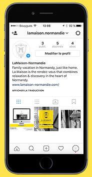 Instagram page of La Maison cottage
