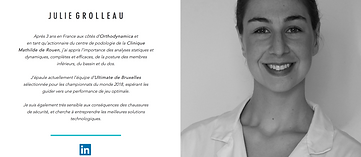 Biographie Julie Grolleau podologie