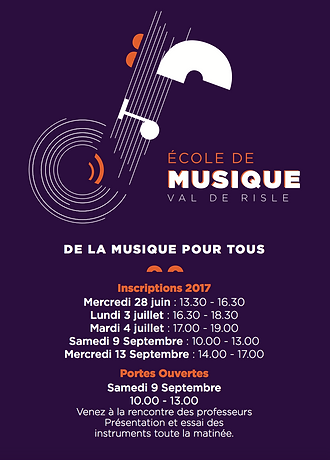 Flyer Ecole de musique Val de Risle
