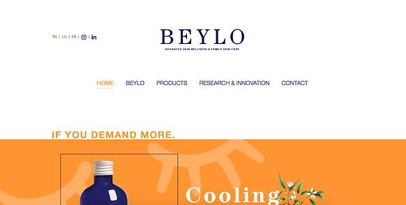 Page d'accueil de la marque Beylo