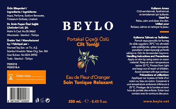 étiquette du tonique Beylo