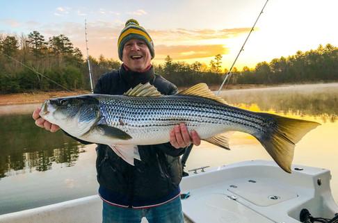 Georgia Trophy Striper Fishing