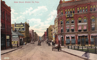 State Street showing Taylor Christan Hat Co. where the Bristol Sessions took place