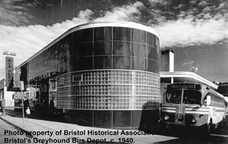Greyhound Bus Station c. 1940