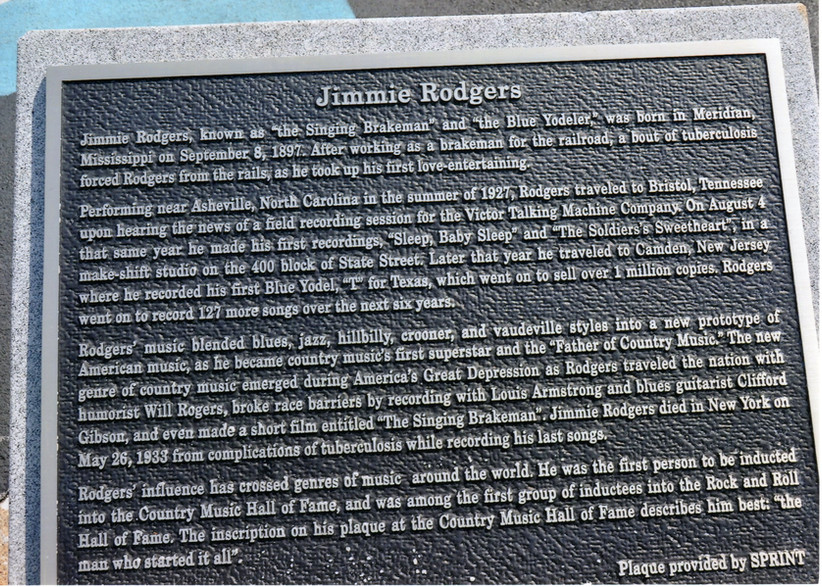 Jimmie Rodgers Historic Marker