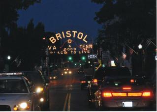 Bristol Sign State Street Night
