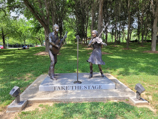 Take The Stage Sculpture at BCM Museum