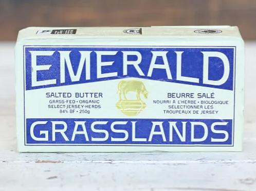 Emerald Grasslands Organic Grass fed Butter