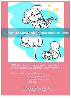 cartel clases Composicion para Audiovisu
