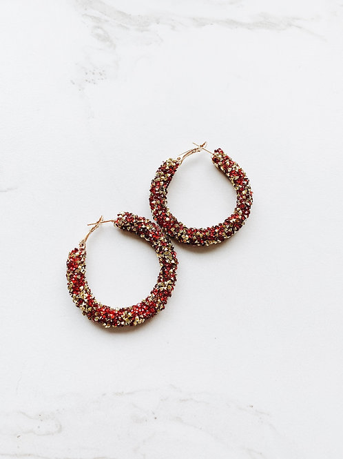Old Flame Hoops (red)