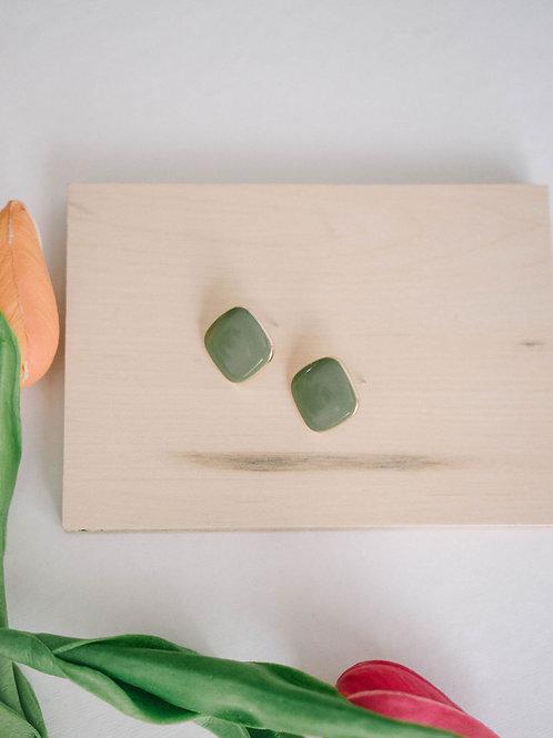 Sage Green Studs