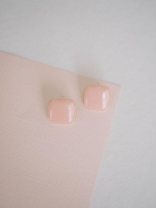 Pink Peonies Studs