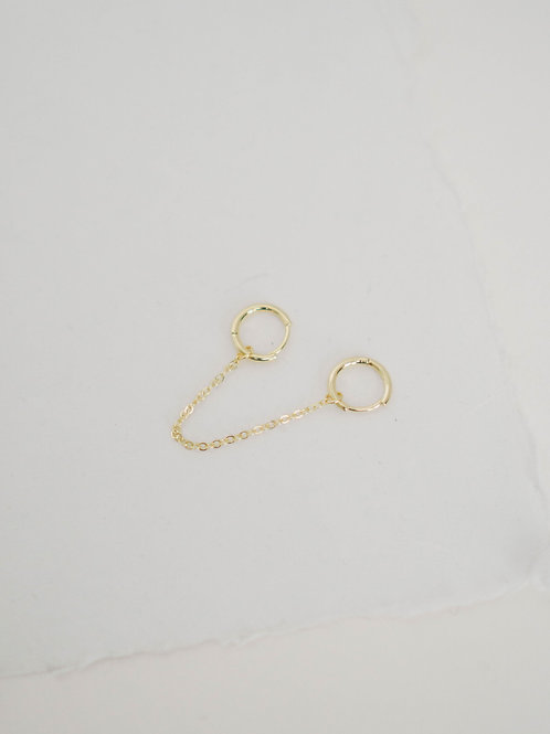 Two Chain Hoops | hypoallergenic
