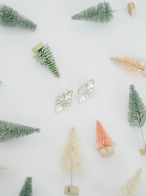 Icicle Crystal Studs  hypoallergenic