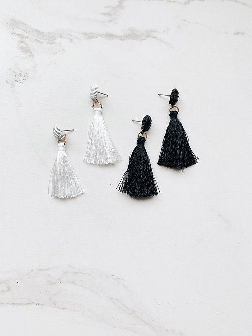 B&W Tassels ( black & white)