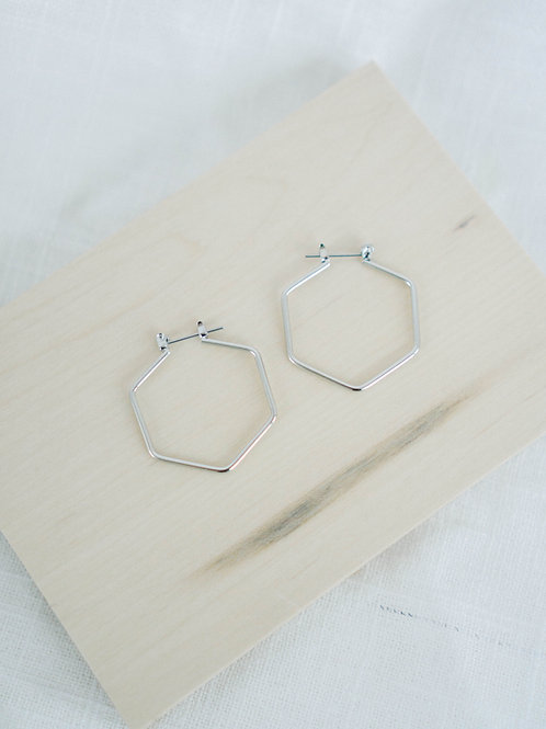 Hey Hex Hoops | hypoallergenic