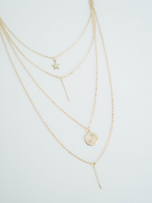 Four For Four | layered necklace