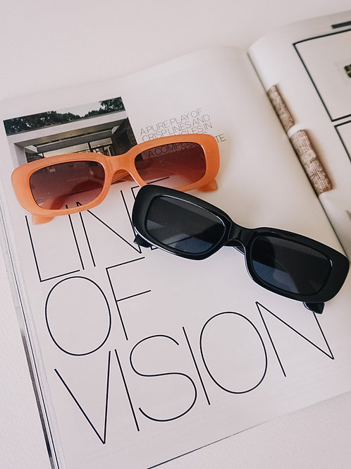 Cool Girl Sunnies ( black + coral)