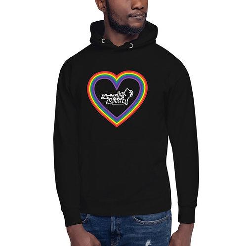 Unisex Rainbow Heart SUPA Hoodie
