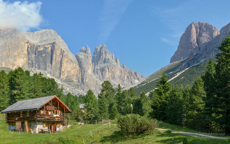 Chalet d'alpage et cima catinaccio