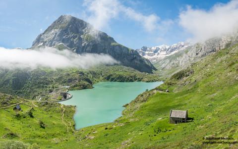 Lac des Gloriettes, petit Gabiedou, et cirque d'Estaube