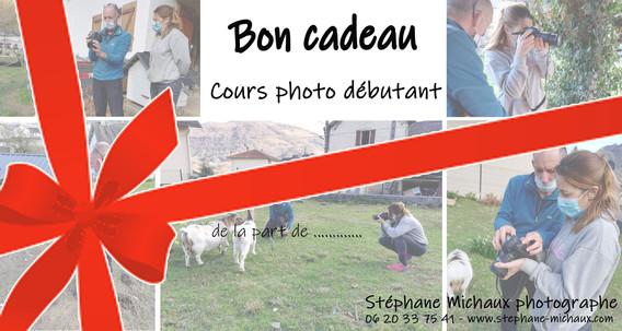 Carte Cadeau cours photo débutant