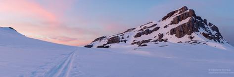 Panorama du Soum de Couy au crépuscule