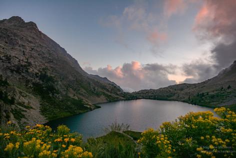 Lac de Vens au coucher de soleil
