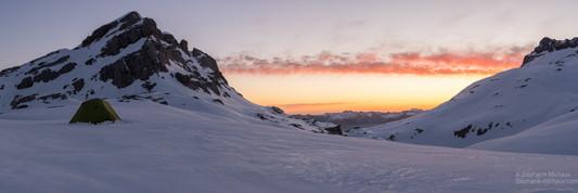 Panorama du Soum de Couy à l'aube