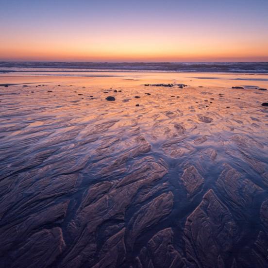 La côte Basque : coucher de soleil