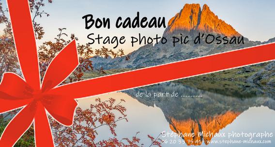 Carte Cadeau Stage photo Pic d'Ossau