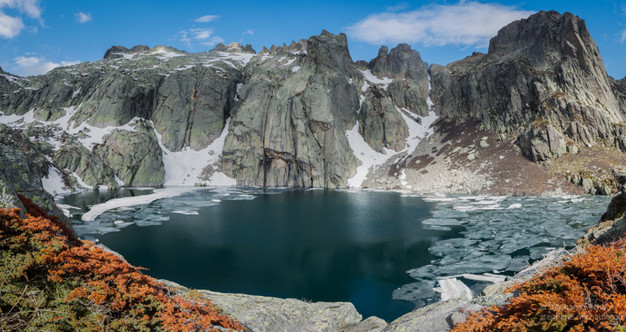 Lac de Capitello en banquise (2)