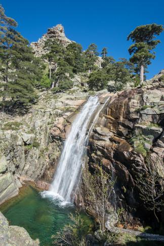 Cascade de Radule en Corse