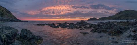 Panorama coucher de soleil en Corse