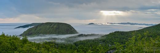 Panorama mer de nuages en Barétous