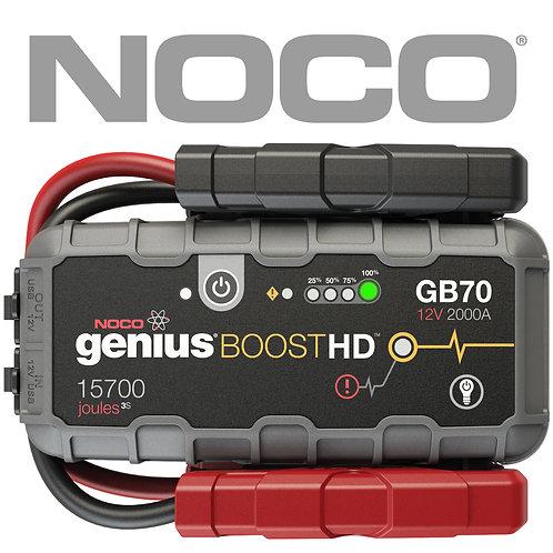 Genuine NOCO GB70 GENIUS BOOST 12v Jump Starter Lithium-ion 2000AMP