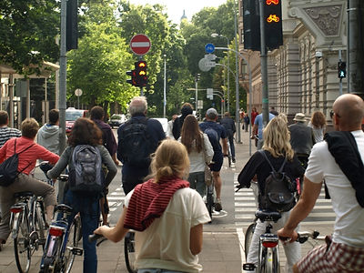 bike tour - bike path - group stooped at lights.jpg