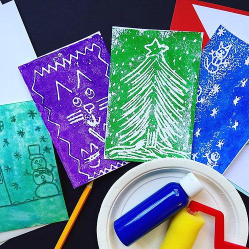 Printmaking kit (ages 3-12)