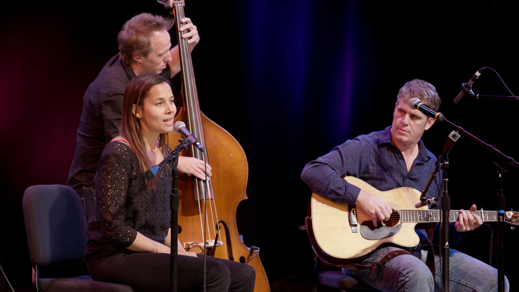 Rhiannon Giddens, Jason Sypher, and Dirk Powell