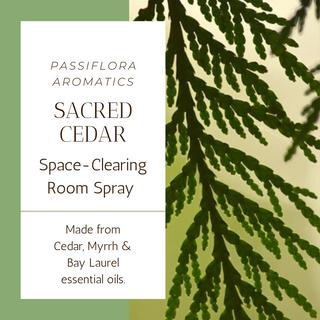 Sacred Cedar Space Clearing Room Spray