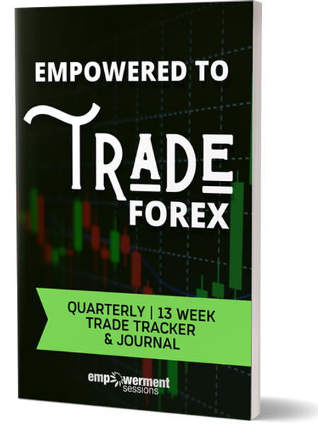 Empowered to Trade Forex Quarterly 13 Week Trade Tracker & Journal