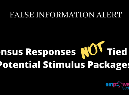 Not True: Census 2020 & Stimulus Checks