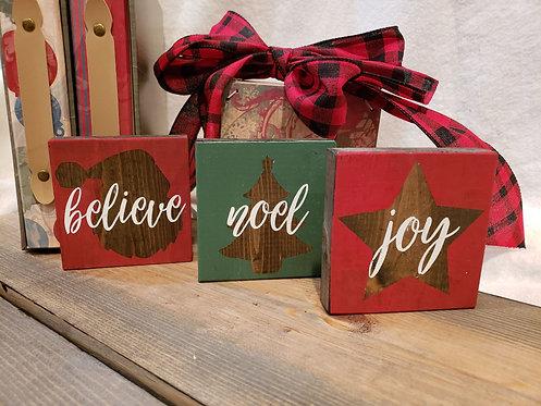 Believe, Noel, Joy - Set of three