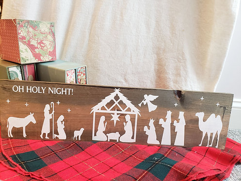 Oh Holy Night Nativity Scene