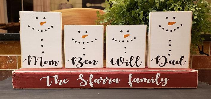 Snowman Clan Personalized
