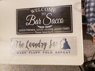 Bar and Laundry Signs