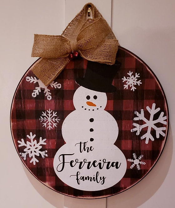 Snowman Personalized