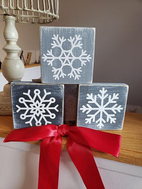 Snowflake Minis (set of three)